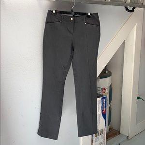 White House black market grey pants / slacks sz 6